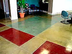 Acrylic Stained concrete in Faracy Boys Jeep Dealership of Colorado