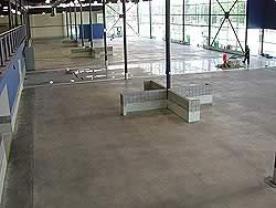 Acrylic Stained concrete process photo in GM Showroom