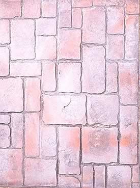 Concrete stamp created this look of old, natural brick