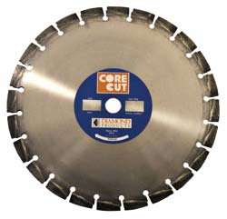 core cut diamond blade close up