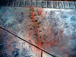 decorative concrete crack fixing by using your artistic handi-work
