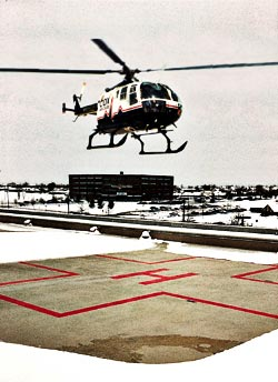 Helipads are a great place for snow melt systems.