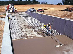 Radiant heat can be placed in any new concrete pour as seen here
