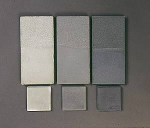 Colored Concrete Chips Show The Tint Strength Advantage Of Carbon Black Light Sample