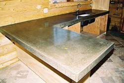 Michael Archambault cast in place concrete countertop finished product.