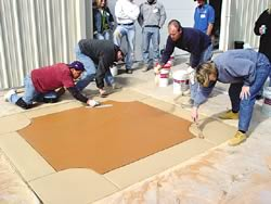 Rafco products were used in this training course so that the concrete contractors could learn about a specific product.