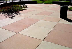 Sandscape Texture,a new cast-in-place concrete with dozens of color options,was developed mainly for retail establishments and streetscapes.Colorado Hardscapes trademarked the finish last August and says it's gaining in popularity due to its environmentally friendly installation process.