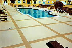 The use of sealers is critical for ensuring long life for any pool deck.