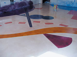 Of course, tinting strength and penetration will vary depending on the characteristics of the concrete you are working with. Dyes can be used in conjunction with acid stains or all on their own.