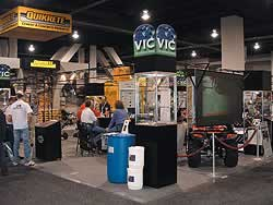 Vic International exhibit at the World of Concrete 2005