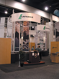 Lafarge concrete exhibit at the World of Concrete 2005