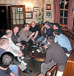 Lafarge UK Spring Training - after a long day there is nothing like a long night drinking at a local pub.