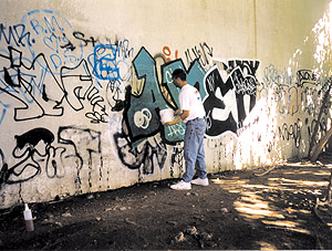 "Often, cleanup comes before preventative coating, says Schwartz of Genesis. ""One does not think one has a graffiti problem until one actually gets graffiti."""