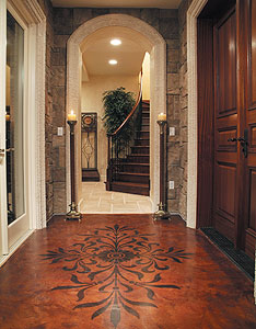 Colormaker Floor used in Naples, Florida; foyer