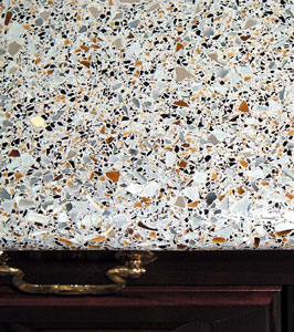 Concrete Countertop With Glass Aggregate   Specialty Glass Aggregates Made  From Recycled Glass That Is Melted