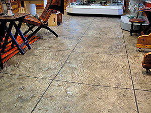 SCP Interior stamped concrete floor using Specialty Concrete Products.