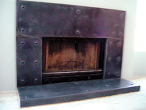 Elegant Fireplace Surrounds Concrete Takes Its Place At