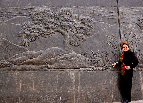 Concrete Wall Art : The natural world in cast place concrete relief murals