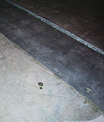 Polishing Concrete - Example of poor finishing differences. Above photos courtesy of RetroPlate.