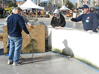 Polishing Concrete at the World of Concrete