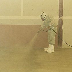 Whether spraying or rolling the sealer on the surface, the concrete needs to be cleaned beforehand.