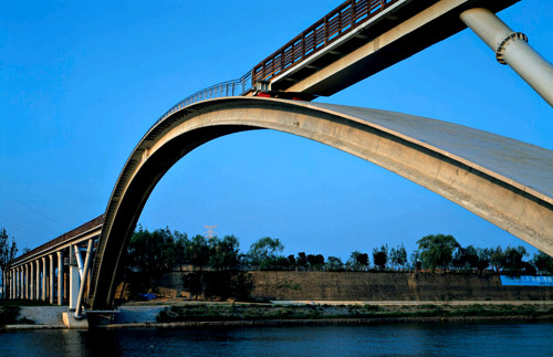 The Footbridge of Peace in Seoul, South Korea, was designed by architect Rudy Ricciotti.