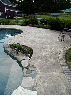 Pool deck naturally blending into the surroundings.