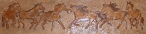 Wild Mustangs Stamp from Proline Concrete Tools