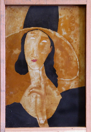 Of the 50 or so pieces of Caribou Art that she's done so far, Doolan's favorite was a reproduction of a Modigliani portrait.