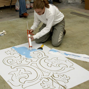 Using Stencils To Expand Artistry In Decorative Concrete