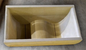 This Contoured WaveTub By Sonoma Cast Stone Is Roomy Enough To Seat Two.  The Tub