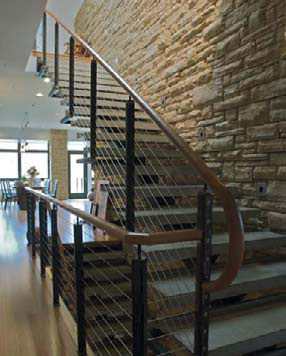 Functional Feature: Sean Dunston, Concrete Jungle Design, Colorado Springs, Colo. Concrete stairs with decorative texture for slip resistance