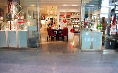 polished concrete in a retail space