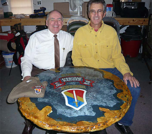 Concrete Tables made by Vietnam veteran for other veterans.