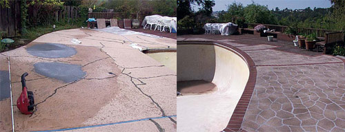 Decorative Cement Slabs : What to do when decorative concrete cracks decor