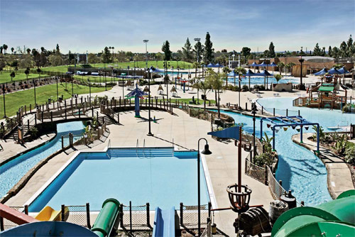 Concrete Contractor work by Trademark Concrete Systems Inc. Splash! 14-acre Regional Aquatics Center, owned by the City of La Mirada, Calif.,