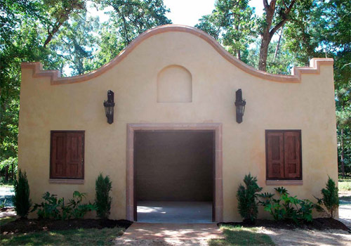 After the chapel was built using a Tradical Hemcrete wall system and lime stucco, it was finished with lime wash.