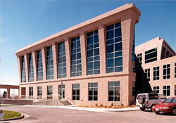 The Clearfield City Center in Utah, built by Salt Lake City-based Eagle Precast Co. (now Hanson Eagle Precast) in 1998, features sprayed-GFRC cladding panels. The thin architectural panels get their strength from the alkali-resistant glass fiber in the mix.