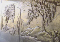 Artist and designer Linda Patterson, of Newark, Calif., created 15 cast-in-place relief murals - 2,136 linear feet in all - to adorn underpasses along the 12.8-mile San Tomas Aquino/Saratoga Creek Trail in Santa Clara County, Calif.