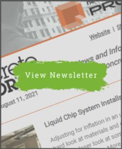 Concrete Decor Newsletter - August 11, 2021