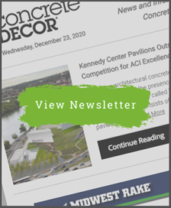 Concrete Decor Newsletter - January 13, 2021