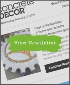 Concrete Decor Newsletter - February 10, 2021