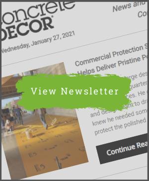 Concrete Decor Newsletter - January 27, 2021