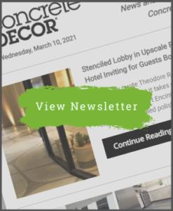 March 10, 2021 - Concrete Decor Newsletter
