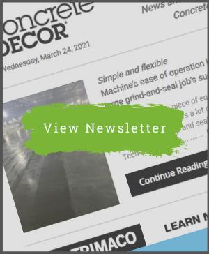 March 24, 2021 - Concrete Decor Newsletter