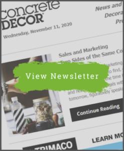 Concrete Decor Newsletter - November 11, 2020