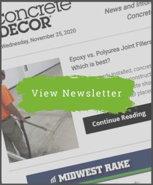 Concrete Decor Newsletter - November 25, 2020