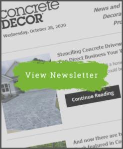 Concrete Decor Newsletter - October 28, 2020