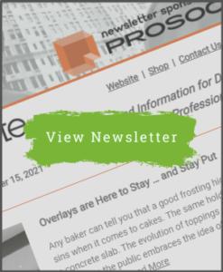 Concrete Decor Newsletter - September 15, 2021