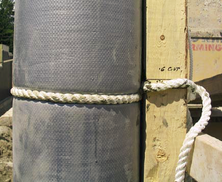 Fab-Form Industries of Surrey, British Columbia, produces a fabric-based column form called Fast- Tube. Manufactured from high-strength fabric, Fast-Tube comes on 60-foot and 120-foot rolls and in diameters from 8 to 24 inches.